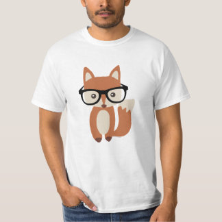 Hipster Baby Fox w/Glasses T-Shirt