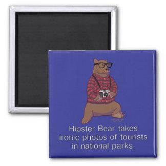 Hipster Bear Magnet