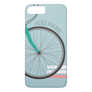 Hipster Bicycle Wheel with Custom Name iPhone 8 Plus/7 Plus Case