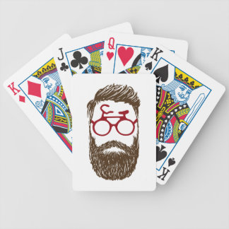 Hipster biker bicycle playing cards