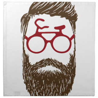 Hipster biker napkin