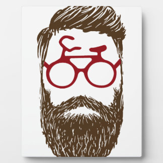 Hipster biker plaque