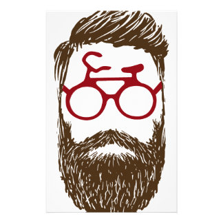 Hipster biker stationery