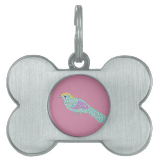 Hipster Birds Pet ID Tag