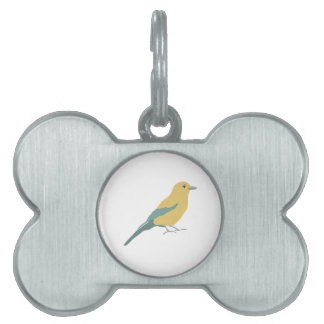 Hipster Birds Pet Name Tag