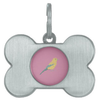 Hipster Birds Pet Tag