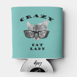 Hipster Blue Popular Crazy Cat Lady Humour