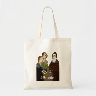 Hipster Bronte Sisters Budget Tote Bag