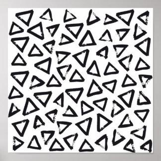 Hipster Brushstroke Triangels, Scandinavian Design Poster