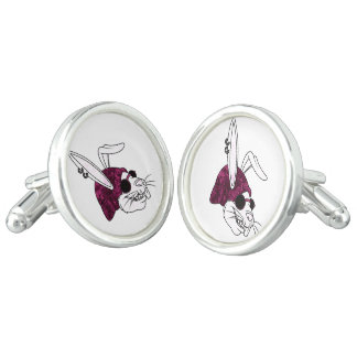 Hipster Bunny Cuff Links