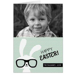 Hipster Bunny | Happy Easter Photo Card