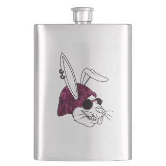 Hipster Bunny Hip Flask