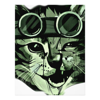 HIpster Cat 21.5 Cm X 28 Cm Flyer