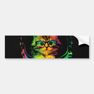 Hipster cat - Cat astronaut - space cat Bumper Sticker