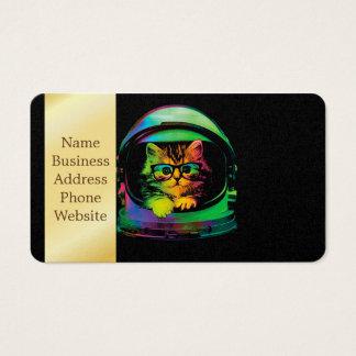 Hipster cat - Cat astronaut - space cat Business Card