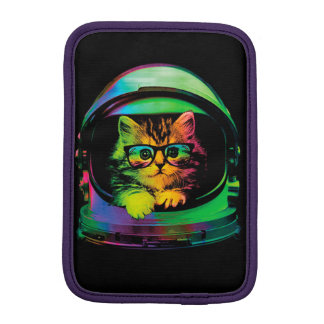 Hipster cat - Cat astronaut - space cat iPad Mini Sleeve