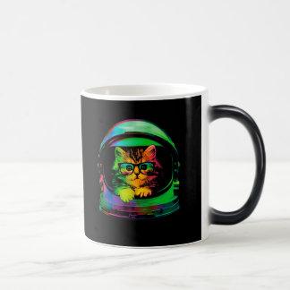 Hipster cat - Cat astronaut - space cat Magic Mug