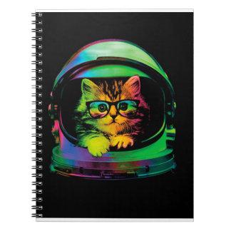 Hipster cat - Cat astronaut - space cat Notebook