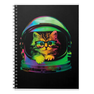 Hipster cat - Cat astronaut - space cat Notebooks