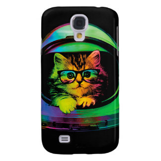 Hipster cat - Cat astronaut - space cat Samsung Galaxy S4 Case