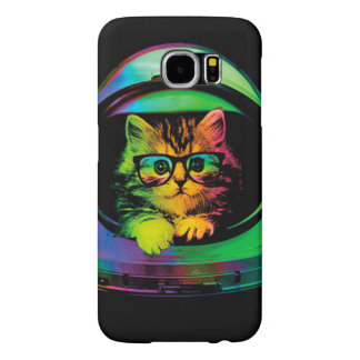 Hipster cat - Cat astronaut - space cat Samsung Galaxy S6 Cases