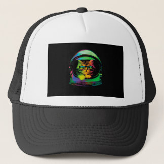 Hipster cat - Cat astronaut - space cat Trucker Hat
