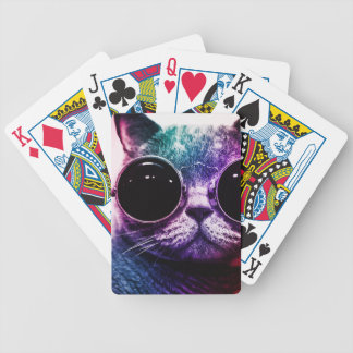 Hipster Cat Pop Art Bicycle Playing Cards