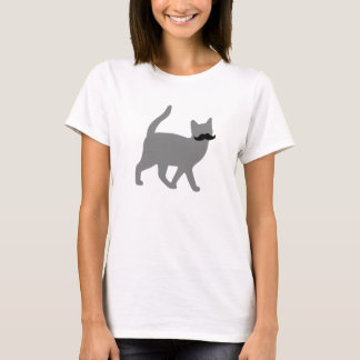 Hipster Cat with Moustache T-Shirt