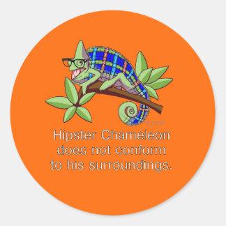 Hipster Chameleon Sticker