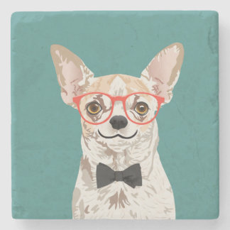Hipster Chihuahua Coaster