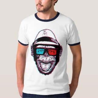 HIPSTER CHIMP 3D + GLASSES T-Shirt