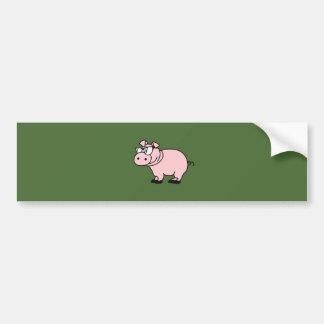 Hipster cool sow piglet bumper sticker