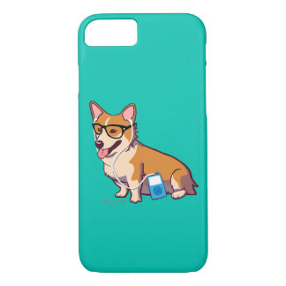 Hipster Corgi iPhone 7 Case (without