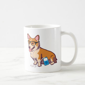 Hipster Corgi (without text) Coffee Mug