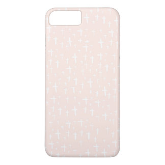 Hipster Cross in Pink iPhone 7 PLUS Case
