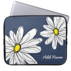 Hipster Daisy Drawing in trendy colours Laptop Sleeve