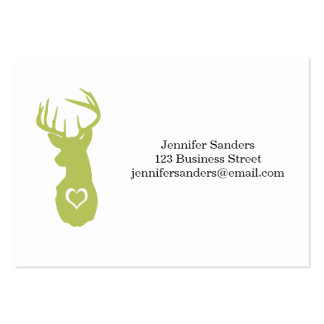 HIPSTER DEER HEAD WITH HEARTS PACK OF CHUBBY BUSINESS CARDS