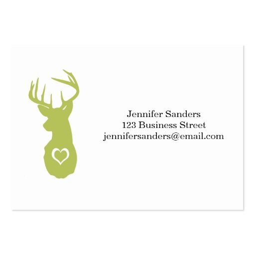 HIPSTER DEER HEAD WITH HEARTS BUSINESS CARDS