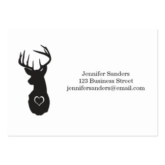 Hipster Deer with Hearts Pack Of Chubby Business Cards