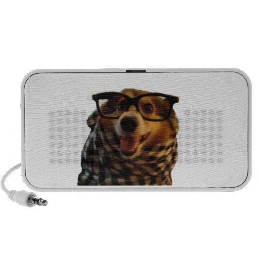 Hipster Dog Mp3 Speaker