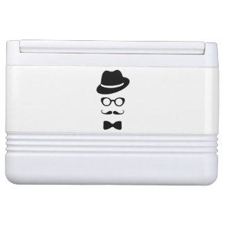 Hipster Face Igloo Can Cooler