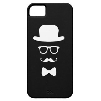 Hipster Face iPhone 5 5S Barely There Cover For iPhone 5/5S