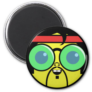 Hipster Face Magnet