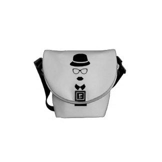 Hipster Face Mini Messenger Bag