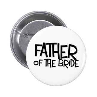 Hipster Father Bride Lite T 6 Cm Round Badge