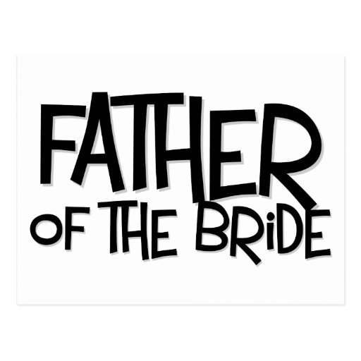 Hipster Father Bride Lite T Postcard