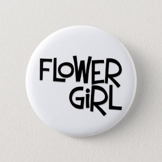 Hipster Flower Girl 6 Cm Round Badge