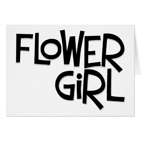 Hipster Flower Girl Greeting Card