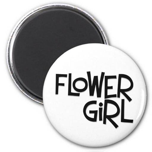 Hipster Flower Girl Magnets