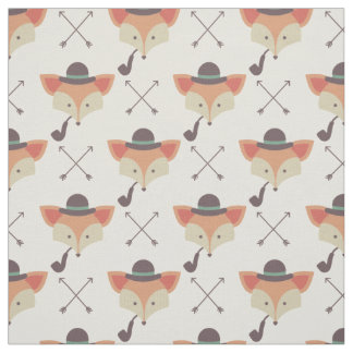 Hipster Fox, Bowler Hat, Pipe Fabric
